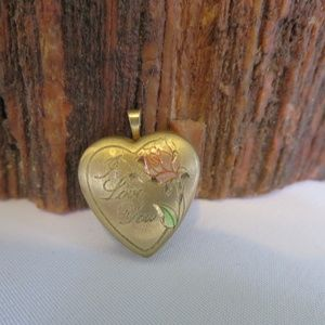 14K Gold Filled I Love You Locket